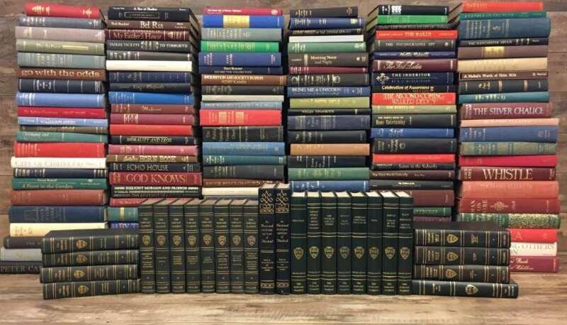 Authentic Decorative Books... 165 Vintage w/ Gilt Titles- 16.5 Linear feet DECOR