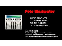 MUSIC PRODUCER / MASTERING / SOUND PRODUCTION TUITION / GUITAR LESSONS