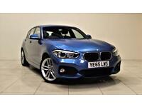 BMW 1 SERIES 1.5 116D M SPORT 5d 114 BHP + DAB RADIO + BLUETOO (blue) 2015