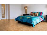 High Quality 3-Strip Beech Laminate Flooring & Underlay.