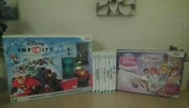 Wii Games Bundle inc Udraw & Infinity