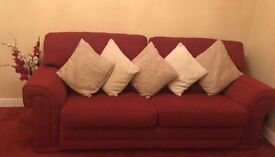 Set of Two Red Sofas