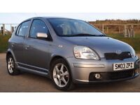 Toyota Yaris VVTI T Sport. Silver, Red Leather Seats. 2003