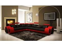 8 seat Corner leather sofa