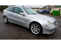 MERCEDES-BENZ C CLASS C180K SE 3dr Evo Pack Fully Serviced+Moted+Warranted (silver) 2003