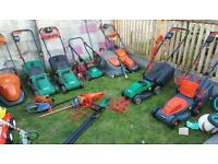 Mowers strimmers hedge cutters
