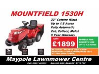 NEW Mountfield 1530H **SALE - TWO HUNDRED POUNDS OFF RRP** 33 Inch Ride On Lawnmower