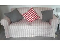 Stylish 'Summery' Ikea Ektorp Two Seat Sofa suitable for Conservatory or Sitting Room