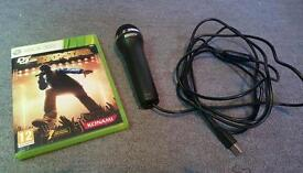 Def Jam Rapstar Xbox 360 game and mic