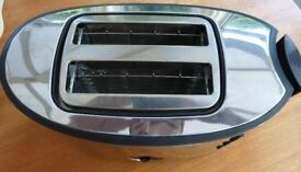 RUSSELL HOBBS 2 SLICE TOASTER, CHROME FINISH, (SEE SPECS)
