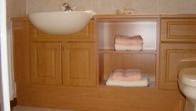 Kelvin Bathroom Vanity units & worktop in cherry finish