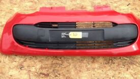 CITROEN C1 2005-08 FRONT BUMPER GENUINE PART RED