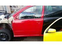 2007 SKODA FABIA NSF DOOR IN R8151 RED