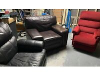 2 Recliner and 1 armchair sofa