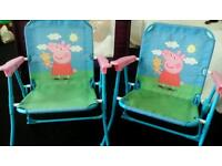Peppa pig outdoor chairs