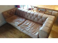 Leather Sofa, 2/3 seat, soft comfortable leather