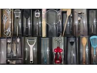 Full set of brand NEW cutlery and kitchen utensils