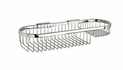 Chrome Wire Storage Basket Wall Mounted Bathroom Shower Caddy Shelf