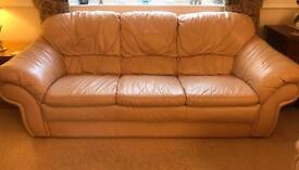Beige Leather Suite