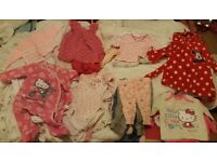 0-3 month baby girls clothes bundle