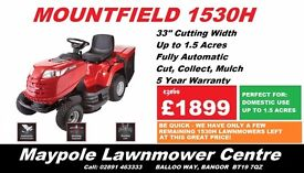 NEW Mountfield 1530H Ride On Lawnmower - Was £2099 *SALE PRICE*