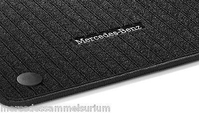Mercedes Benz Original Rips Fussmatten Schwarz C 257 CLS Coupe LHD 03/2018 Neu