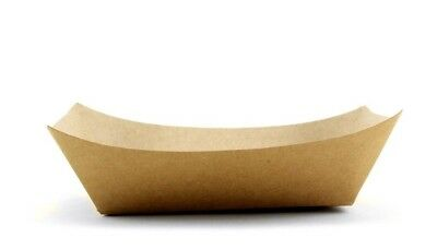 50pc Brown Disposable Kraft Paper Serving Restaurant Supplies Food Trays