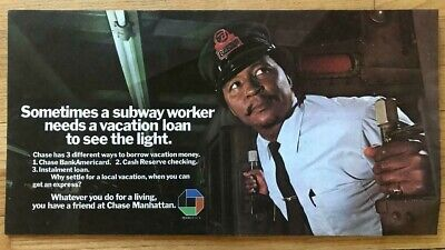 Vintage NY Subway Subway Car Chase Ad With Conductor on an R-1/9 Car