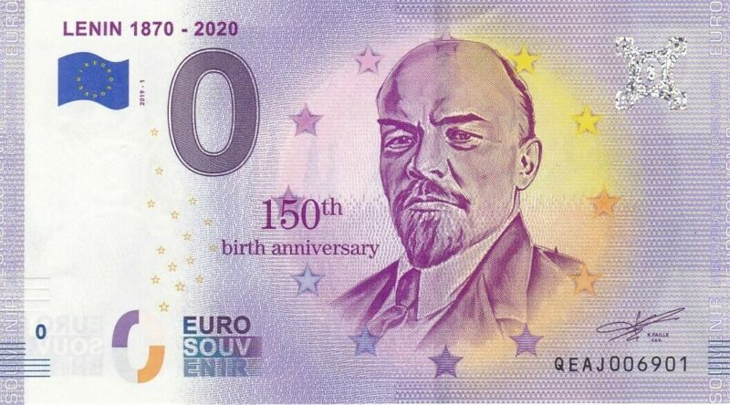 ZERO EURO 0 EURO LENIN 2019 UNC