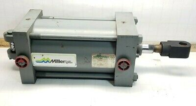 Miller Fluid Power Pneumatic Cylinder 5 Bore 6 Stroke 1 Rod 12 Npt 250 Psi
