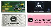 John Deere License Plate Black