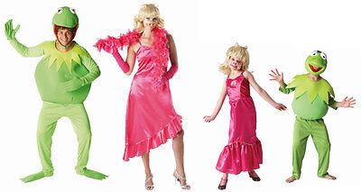MUPPETS KERMIT MISS PIGGY FASCHING KOSTÜM SONDERPREIS Kinder Erwachsene Traumpaa (Muppet Kostüme Erwachsene)