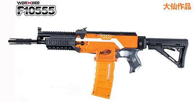 Worker Mod AK custom made Nerf N-strike Elite Toy Change black Accessories