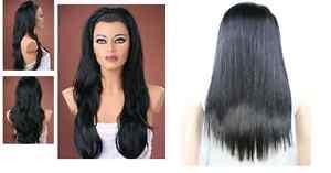 Ladies-3-4-Wig-Fall-Clip-In-Hair-Piece-3-STYLES-25-SHADES-Half-Wig-Fall