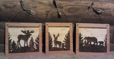 Rustic Lodge Deer - Rustic Pictures Deer Moose Bear Nature Wildlife Wall Rustic Lodge Log Cabin