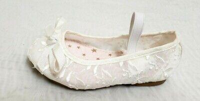 NEW! Toddler Girl's Jumping Beans-Festival Ballet Flats 213861 - White 191P - White Girl Flats