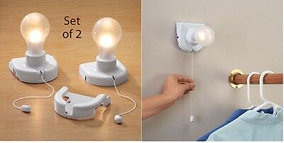 Stick Up Light Bulb Set Of 2, For Hallways, Power Outage, Closets, Stairways