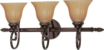 Copper 3 Light Vanity (Nuvo 60/2413 Moulan 3 Light 25 inch Copper Bronze Vanity Wall Light )