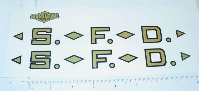 Structo SFD Fire Ladder Truck Stickers ST-053