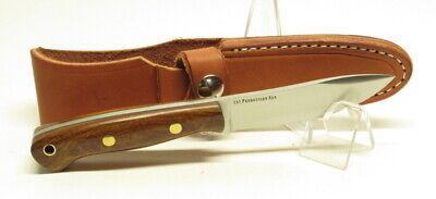 Bark River Knives Mini-Aurora Hunter,3V, Desert Ironwood #1 BlackLiner Brass Pin