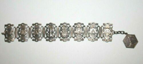Vintage Parris France Travel Charm Bracelet