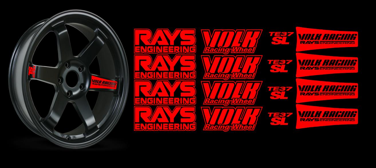 JDM Reflective RAYs VOLK Racing TE37SL Wheel 16 sticker decal Drift