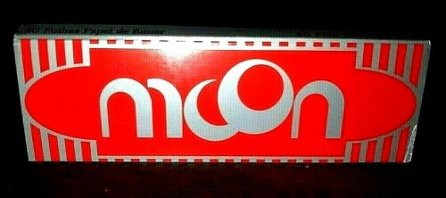 Moon Red Rolling Papers Single Wide 50 Lvs Buy4@Only.56/PK! *FREE USA Shipping*