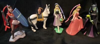 Disney Sleeping Beauty Christmas Ornament set Maleficent Aurora Phillip Samson