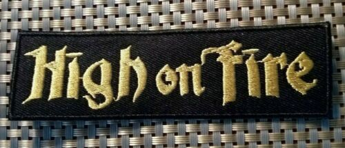 High On Fire (band) Embroidered Patch Iron-On Sew-On US shipping