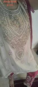pakistani indian party wear clothes aghanoor  size large