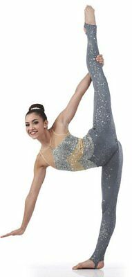CHANDELIER Acro Contemporary Unitard Dance Costume Child XS