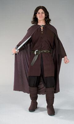 Aragorn Adult Costume Tunic Cloak Medieval Brown Rubies 16467 Halloween](Aragorn Cloak)