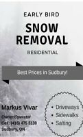 Best price in Sudbury - Early Bird Snow removal and landscaping