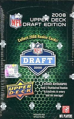 2008 Upper Deck DRAFT EDITION Football HOBBY Box 08 UD AUTO Rookie Card RC Rice ()